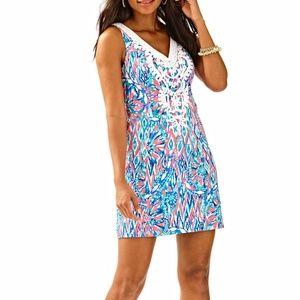 Lilly Pulitzer Gabby Shift Dress Tiki Pink 6
